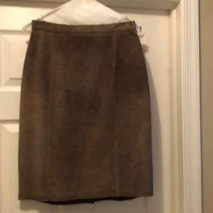 Vintage 80s suede skirt
